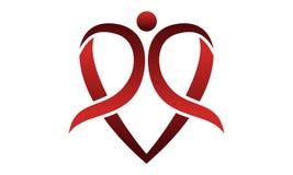 Heart Ribbon Globe. Logo Design Template Vector Stock Photos