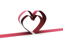 Heart ribbon illustration Royalty Free Stock Photos