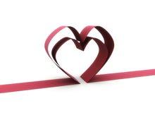 Heart ribbon illustration Royalty Free Stock Photos