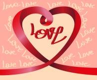 Heart from ribbon Royalty Free Stock Photo