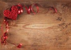 Heart and ribbon Royalty Free Stock Photos
