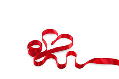 Heart ribbon Stock Images