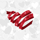 Heart ribbon Stock Photography