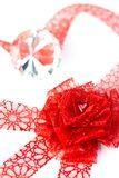 Heart in ribbon rose Stock Photography