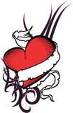 Heart and ribbon tattoo tshirt4 Stock Photos