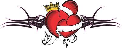 Heart and ribbon tattoo tshirt7 Stock Photos