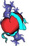 Heart and ribbon tattoo tshirt 8 Stock Photography