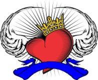 Heart and ribbon tattoo tshirt9 Royalty Free Stock Photo