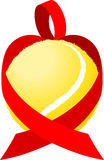 Heart Ribbon Tennis Stock Photography
