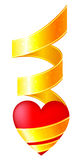 Heart with a ribbon Royalty Free Stock Photography