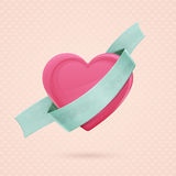 Heart and Ribbon Two Stock Image