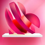 Heart from ribbon Valentine's day. + EPS10 Stock Images