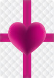 Heart and ribbon vector Royalty Free Stock Images