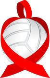 Heart Ribbon Volleyball Stock Photos