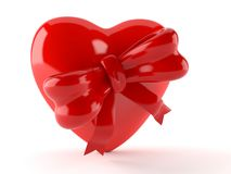 Heart with ribbon. On white background Royalty Free Stock Photo