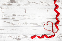 Heart Ribbon White board Background Royalty Free Stock Image