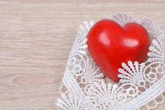 Heart with ribbon Royalty Free Stock Photo