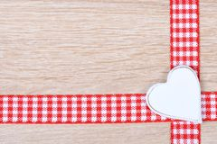 Heart with ribbon Stock Photography