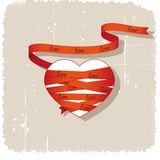 Heart and  ribbon Stock Photography