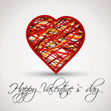 Heart from ribbons Royalty Free Stock Images