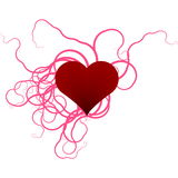 Heart and ribbons Stock Image