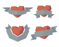 Heart with ribbons Stock Image