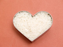 Heart of rice Stock Images