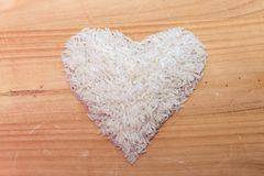 Heart of rice. A healthy diet is good for the body. Royalty Free Stock Images