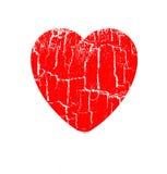 Heart in rift. Vector illustration heart in rift Stock Image