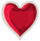 Heart with a rim from jewels Royalty Free Stock Image