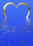 Heart Ring in Water Stock Images