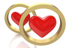 Heart in the ring Royalty Free Stock Photo