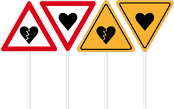 Heart road sign Royalty Free Stock Image