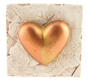 Heart in the rock. A heart in the rock isolated (with clipping path Royalty Free Stock Photo
