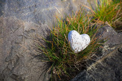 Heart on a rock II Royalty Free Stock Photo
