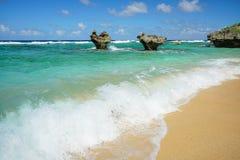 The Heart Rock, Kouri Jima island. One of the landmark in Okinawa, Japan Royalty Free Stock Images