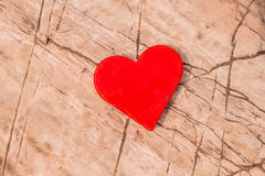 Heart on a rock. Royalty Free Stock Image