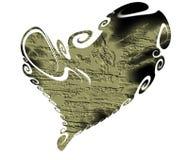 Heart. Rock stone dark isolated heart Stock Photos