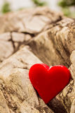 Heart in a rocks. Royalty Free Stock Photo