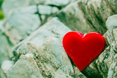 Heart in the rocks. Royalty Free Stock Photography