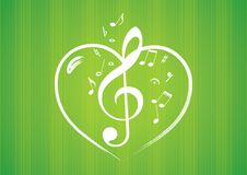 Heart Rom Musical Notes Royalty Free Stock Images