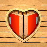 Heart room.Abstract of heart.Wedding card. Heart wood. Clip art for wedding cards. Clip art graphics Stock Photography