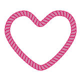 Heart rope. Illustration of pink heart rope isolated over white background Royalty Free Stock Photos