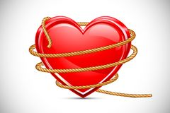 Heart in Rope Stock Photos