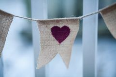 Heart on rope Royalty Free Stock Photos
