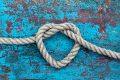 Heart of rope Stock Image