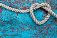 Heart of rope Royalty Free Stock Photo
