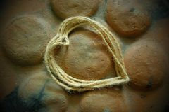 Heart rope stock photography
