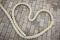 Heart of rope_horizontal Stock Photo