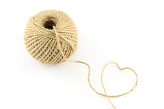 Heart of rope from lump Royalty Free Stock Photo